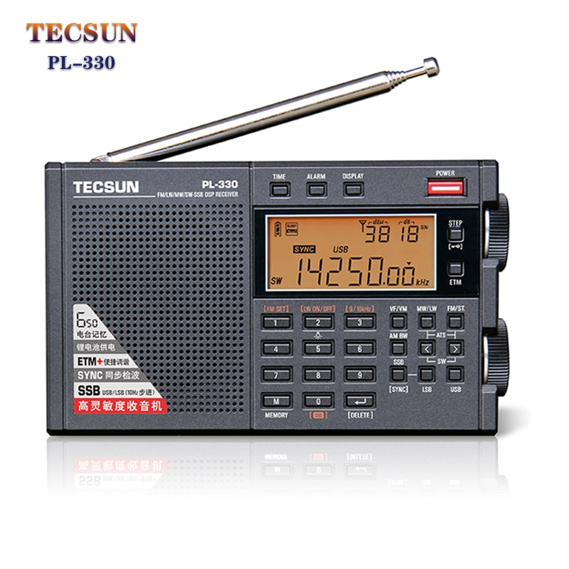 Tecsun PL-330 Full Band Radio Portable FM Stereo LW/MW/SW SSB DSP Receiver Shortwave Radio Newest Fi