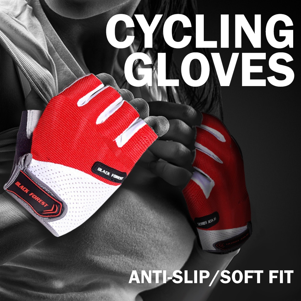 Summer Breathable Bike Gloves Bicycle Men's Cycling Gloves Half Short Finger Gloves Shockproof MTB A