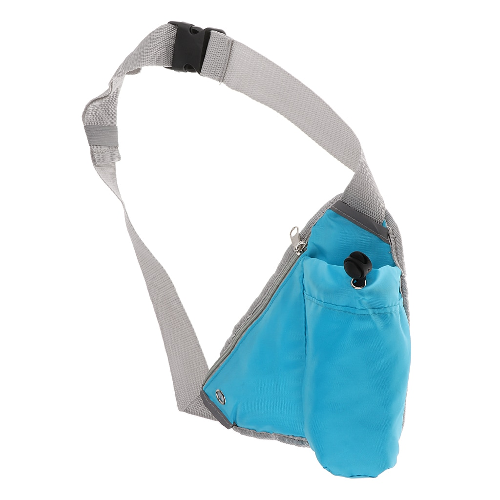 Multi-use Sports Running Triangle Waist Bag Bum Fanny Pack Hiking Cycling Jogging Belt Water Bottle Pocket Shoulder Chest Bag