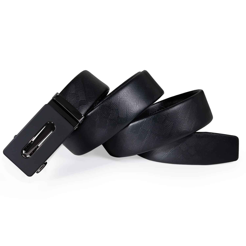 Desinger 55 Kinds Automatic Buckles Mens Belts Black Leather Men Belt Ratchet Waistband Straps for Dress Jeans Casual Formal