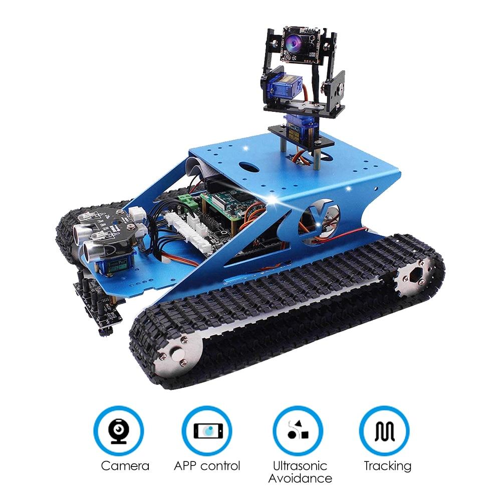 WiFi Tank Smart Robot Kit Wireless Video Programming DIY Robot Kit Ultrasonic Sensor BST-4WD Multi-function Expansion Board