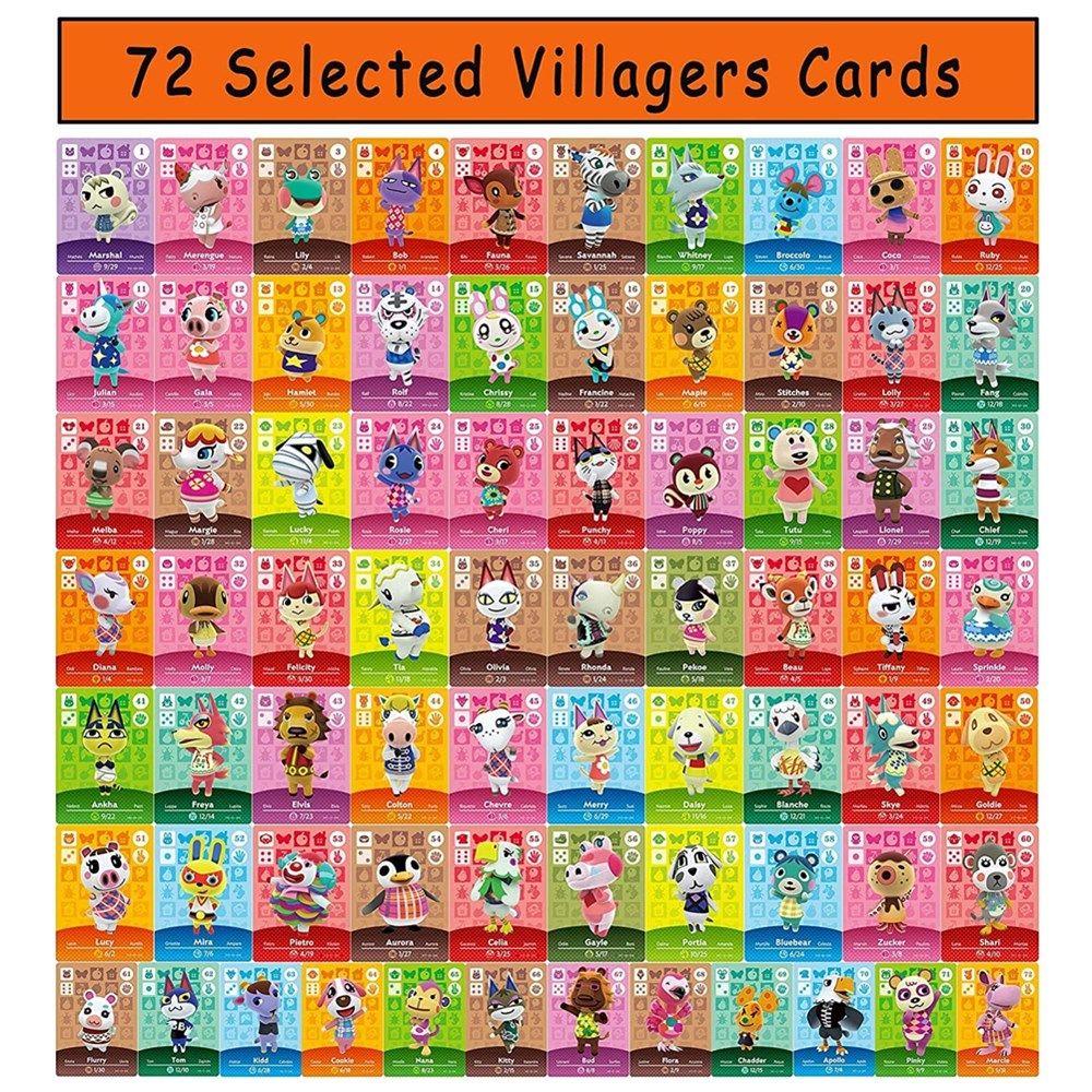Juego de cartas de Animal Crossing para Nintendo Switch, 72 Uds., NFC,...