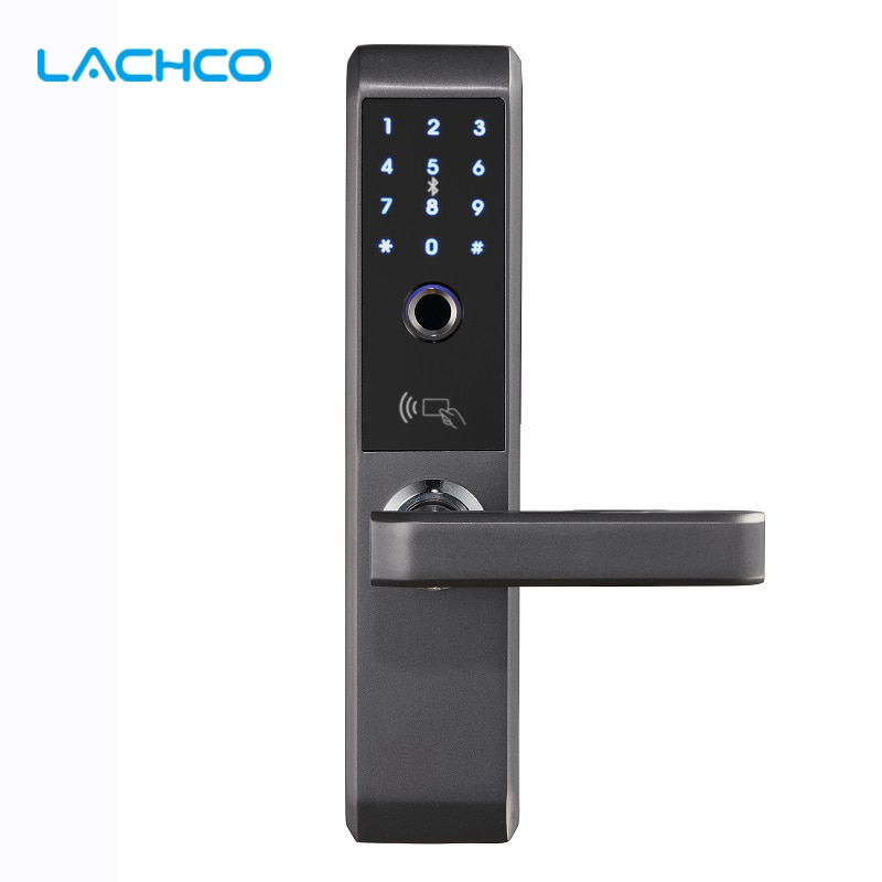 Get LACHCO 2020 Biometric Electronic Door Lock Smart Fingerprint, Code,Card, Key Touch Screen Digital Password Lock for home A18008F