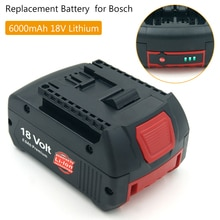 Zamiennik dla Bosch 18 V 6000mAh akumulator litowy BAT609 BAT618 BAT622 JSH180 CRS180 GDR 18 V-LI wiertarka akumulatorowa