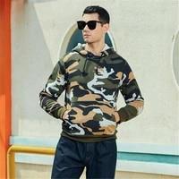 mens camouflage hoodie sports workout sweater sweatshirt hip hop fashion coat