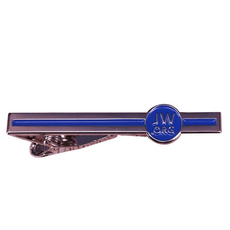 JW. Org зажим для галстука, христианский Бог, зодиака, синие джентльменские металлические зажимы для галстука, простые мужские деловые булавки, прекрасный подарок на крестины