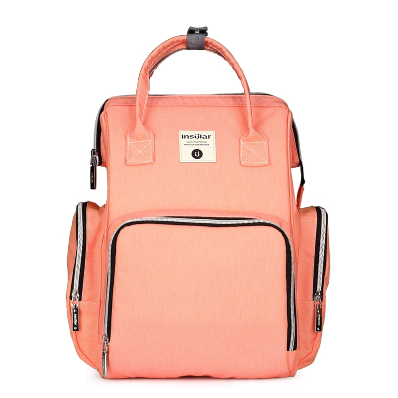 8-Colors Fashion Mummy Maternity Nappy Bag Large Capacity Nappy Bag Travel Backpack Nursing Bag for Baby Care Women's Bag
