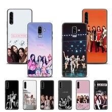 Étui pour samsung Galaxy A905G A51 A71 A10 A20 A20s A20e A10e A10s A50 A6 A7 A8 A9 Plus 2018 Coque arrière ROSE k-pop BLACKPINK kpop