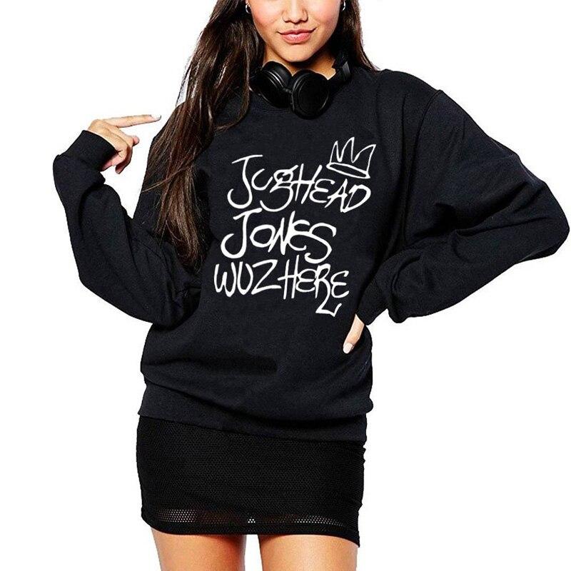 Camisetas Hipster de mujer con diseño de Tv, Sudadera de cuello redondo con diseño de Jughead Jones