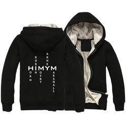 Himym chifre robin mosby barney marshall homem parkas casaco zip completo plus veludo outono inverno casal roupas ziiart