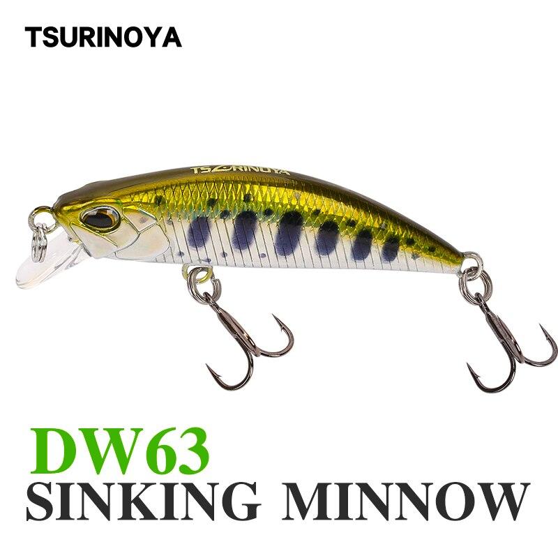 Tsurinoya для рыбалки приманки DW63 50 мм 5g опускается на дно воды мини блесна жесткая приманка искусственная приманка маленький Приманка Карандаш...
