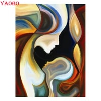 abstract color mother and child diamond painting full squareround 5d cross stitch kitsdiamond embroidery modern art picture