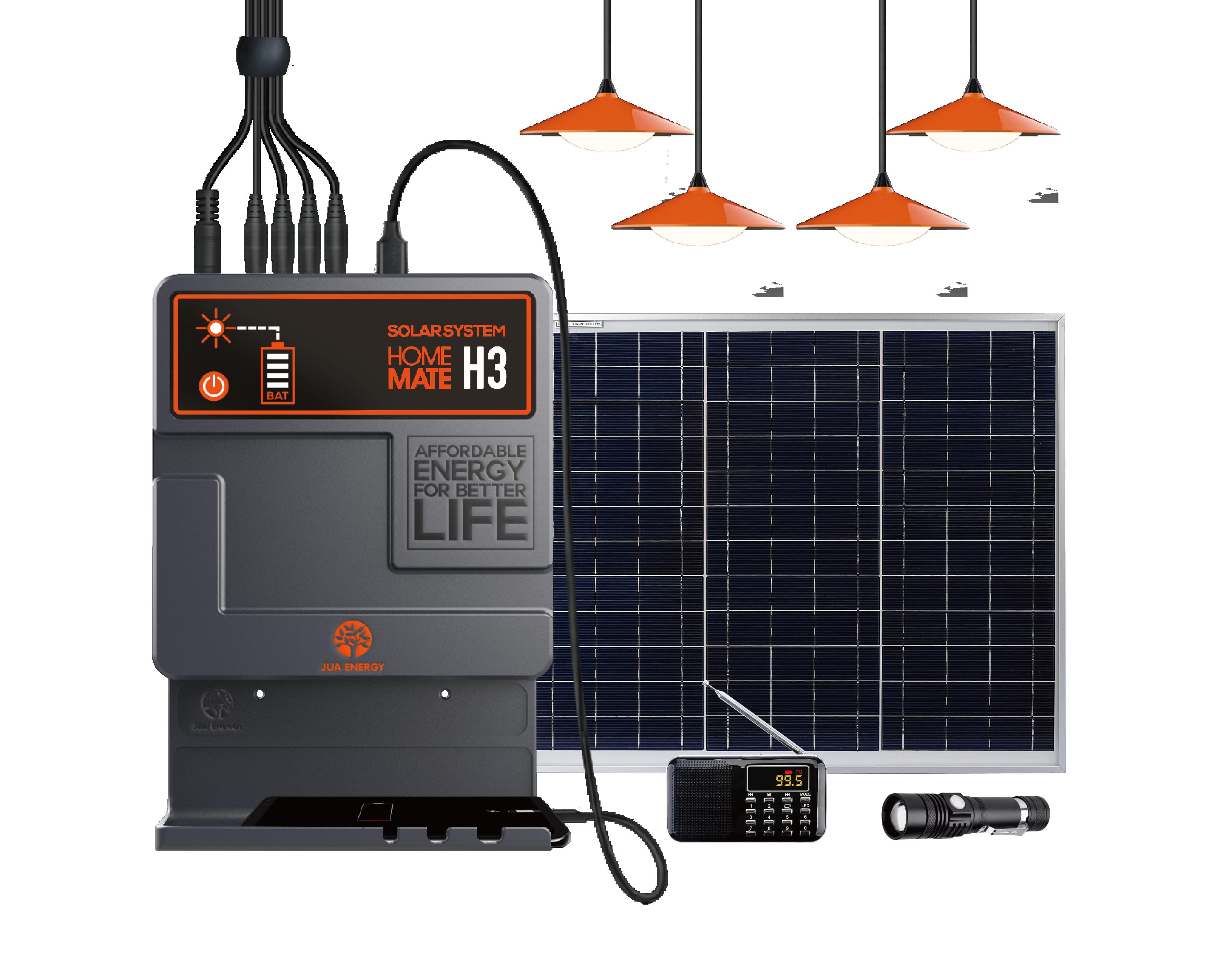 طقم مصباح منزلي بالطاقة الشمسية نظام ألواح الطّاقة الشمسيّة 4 لمبات LED نظام الطاقة الشمسية المنزلية للإضاءة المنزلية