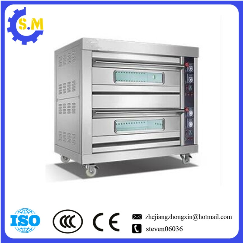 2layers 4 plates Gas Commercial bread oven 6-12inch stainless steel double pizza cake oven недорого