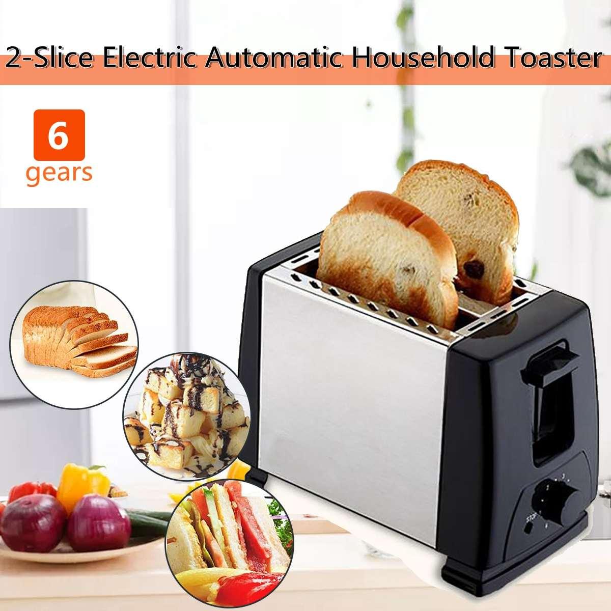 750w 220v 2 fatias de aco inoxidavel torradeira forno cozimento automatico rapido
