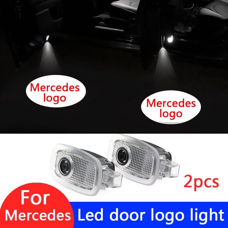 2X proyector de luz Led para puerta de coche con Logo para Mercedes Benz Clase s W221 W447 C216 S250 S280 S300 Accesorios
