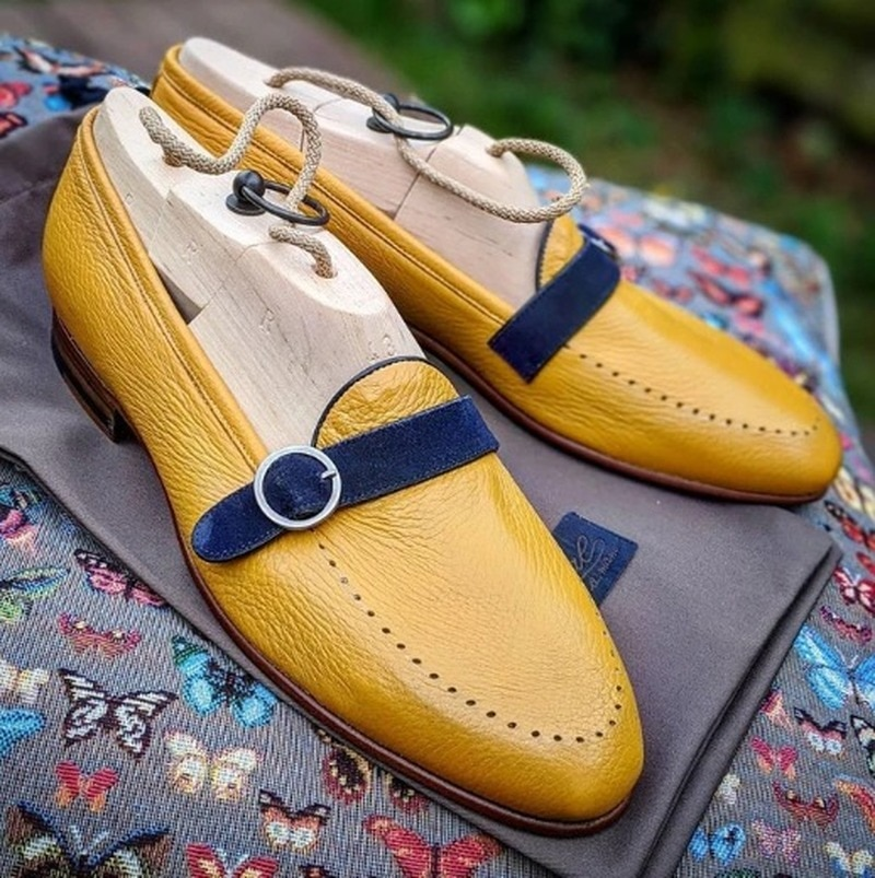 Mens Shoes High Quality Pu Leather New Fashion Stylish Design Monk Strap Shoe Casual Formal Loafer