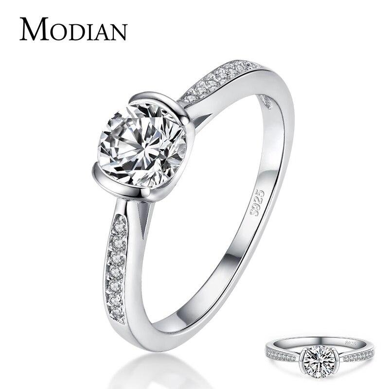 Modian Luxus Klassische Stil Solide 925 Sterling Silber 10 Herzen Pfeile Zirkon Ringe Für Frauen Versprechen Hochzeit Engagement Schmuck