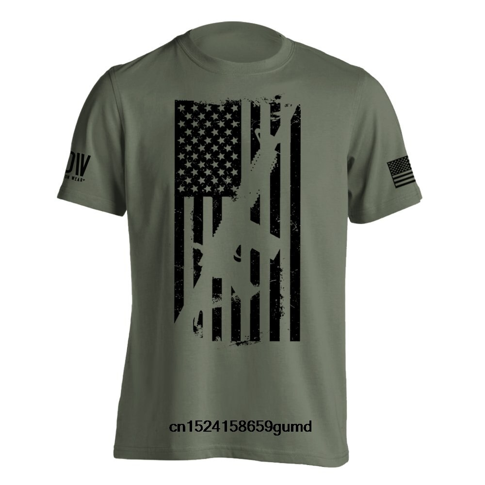 Funny Men t shirt Women novelty tshirt AR15 American Flag M4 T-Shirt