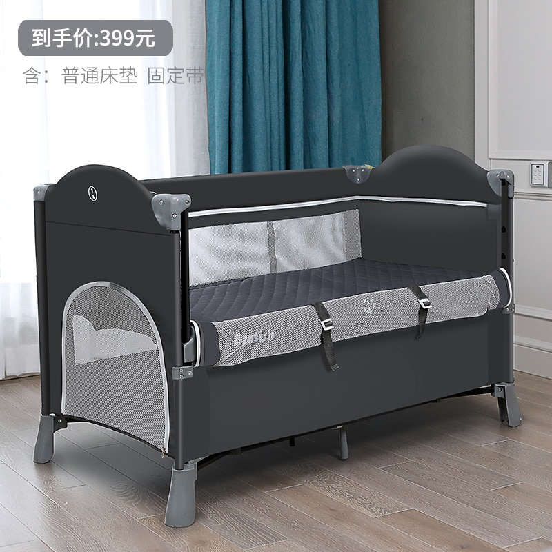962 Crib Joint Bed Movable BB Multi-functional Portable Folding Newborns Baby Bedside Bed Bassinet enlarge