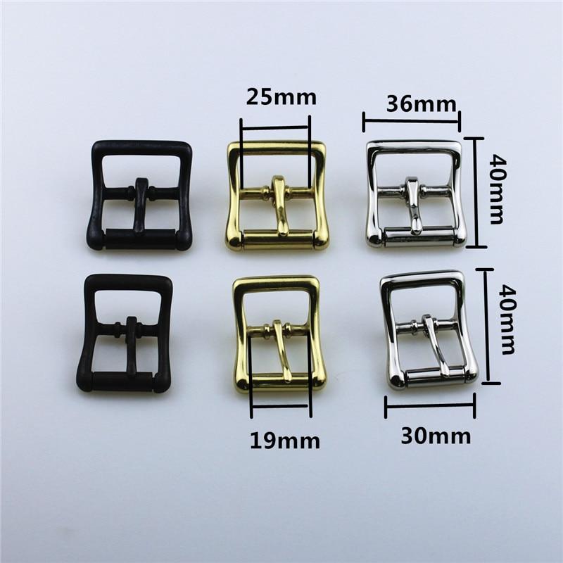 DIY Leathercraft Hardware 606201 Center Bar Roller Belt Buckle Black Color Brass Color Nickel Plated Finish 19mm 25mm