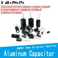 35v high frequency aluminum capacitor dip22uf 47uf 100uf 220uf 330uf 470uf 680uf 1000uf 2200uf 3300uf 4700uf