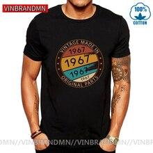 Vintage fabriqué en 1967 pièces dorigine t-shirt hommes rétro né en 1967 chemise père papa cadeau danniversaire Hispter classique naissance année t-shirt