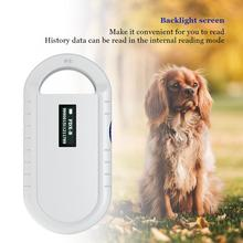 Lector portátil de chips de animales, escáner de Microchip para mascotas, lector Universal de RFID, pantalla de retroiluminación
