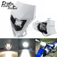 universal motocross headlight led supermoto fairing for kawaski suzuki honda yamaha wr yz ttr xt mx enduro dirt bike head light