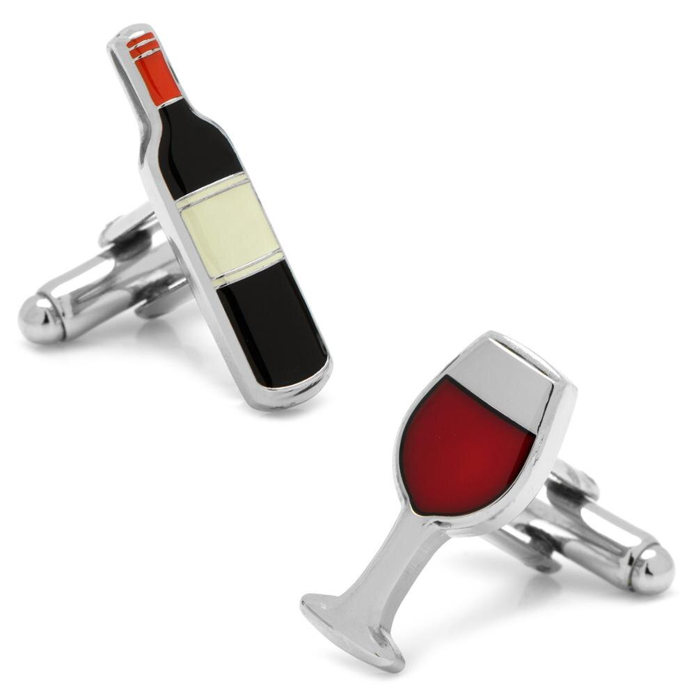 Дизайн очков для питья, запонки из красного вина и бокала для мужчин, качественный медный материал, запонки черного цвета, опт и розница