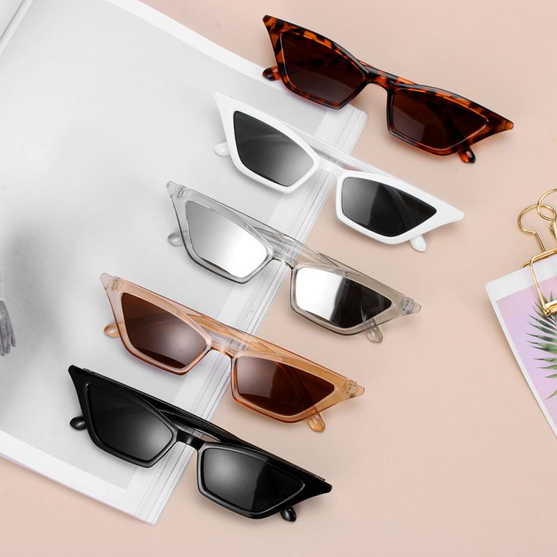 Fashion Women  Vintage Cat Eye Sunglasses  Small Frame UV400 Sun Shades Glasses Street Eyewear Luxur