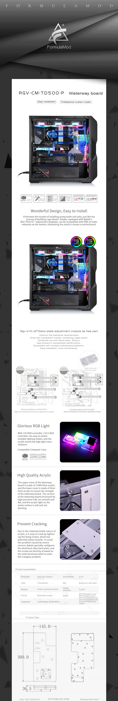 Bykski Waterway Cooling Kit For Cooler Master TD500-MESH Case, 5V ARGB, For Single GPU Building, RGV-CM-TD500-P