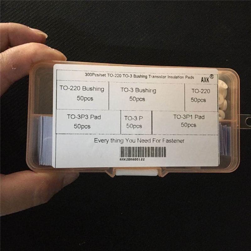 Купить с кэшбэком Bushing Transistor Insulation Pads Heatsink Shim Washer Silicone 300pcs/set High Quality Service Stainlness Steel Superior