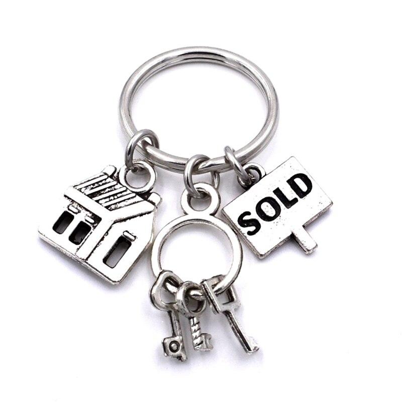 Агент по продаже ключей, брелок для ключей, брелок для ключей, подарок для мужчин и женщин
