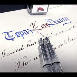 Parallel Pen Gothic English Flower Tibetan Arabic Student Art Calligraphy Pen English Font Flat Duckbill Pen Wide Fountain Pen
