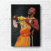 Affiche murale moderne minimaliste de basket-ball  decoration de salon  peinture de joueur de basket-ball  hotel  decoration de maison