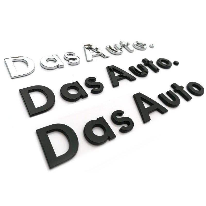 Lettres majuscules et minuscules emblème écriture manuscrite voiture style coffre Logo autocollant pour Volkswagen Das Auto. Golf CC Magotan Sagitar