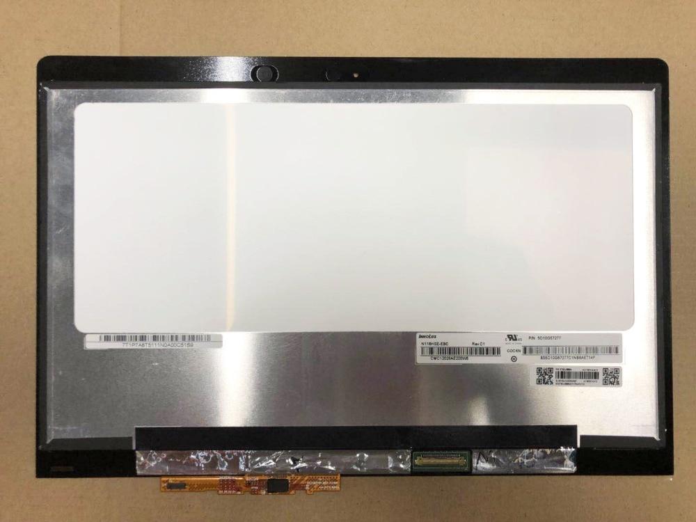Montaje de pantalla LCD Digitalizador de pantalla táctil de 11,6 pulgadas para Lenovo Yoga 710-11ISK 80TX LED FHD 1920X1080 reemplazo del Panel