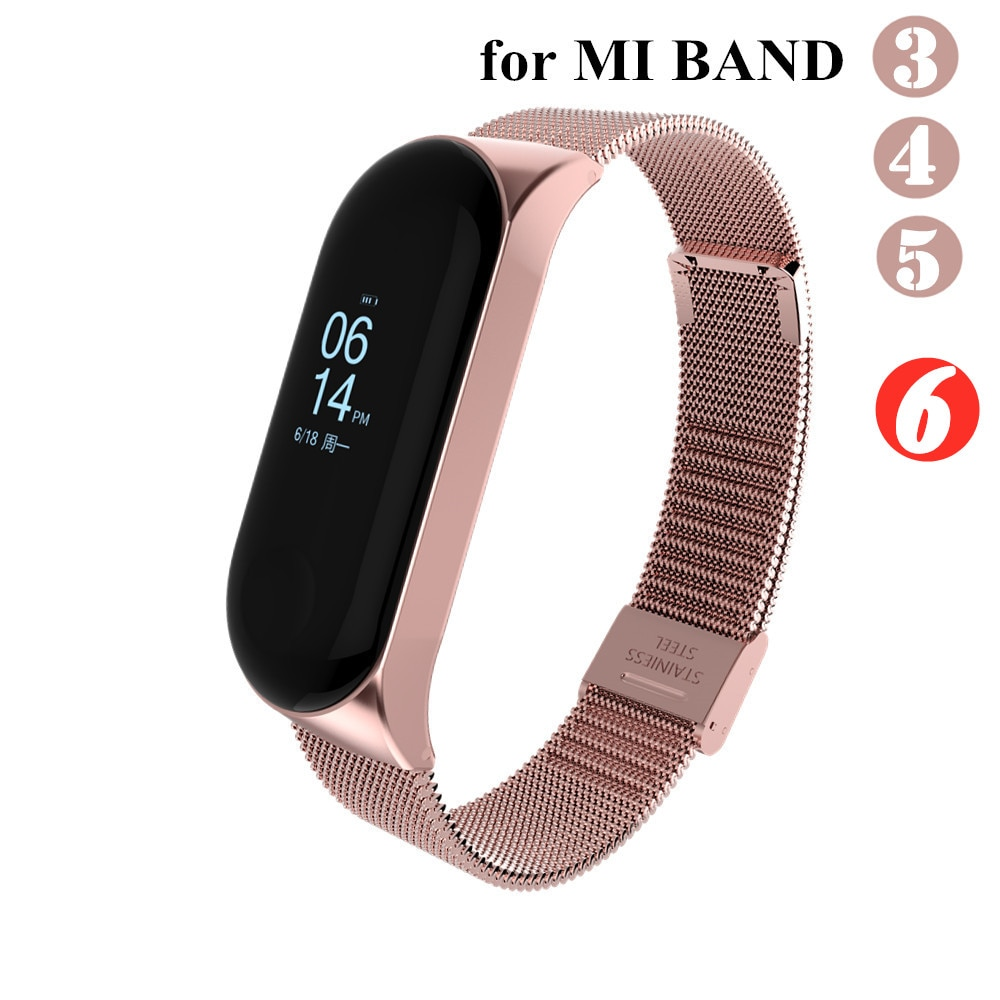 Mi band 6 3 4 5 Strap Metal for Xiaomi Mi Band 5 4 3 Bracelet Screwless Xiaomi Mi Band 4 Bracelet Correa Xiomi MiBand Wrist Band