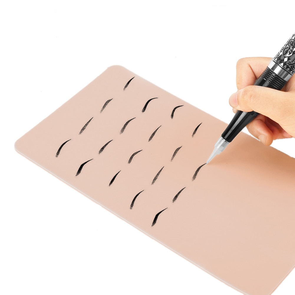 Maquillaje de cejas tatuaje práctica piel protección del medio ambiente y durabilidad tatuaje cosmético hoja de silicona permanente