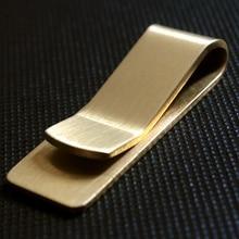 Vintage Massief Messing Geld Clip Portemonnee 1.5 Mm Dikte Metalen Mannen Cash Bill Klem Houder Id Credit Card Map Voor mannelijke Mini Purse