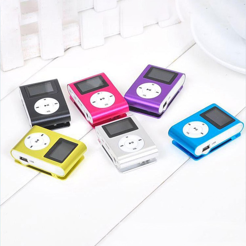 Mini USB Metal Clip MP3 Player Micro LCD Screen Music Media Player Support 32GB Micro SD TF Card Slot Digital Mp3 Music Player