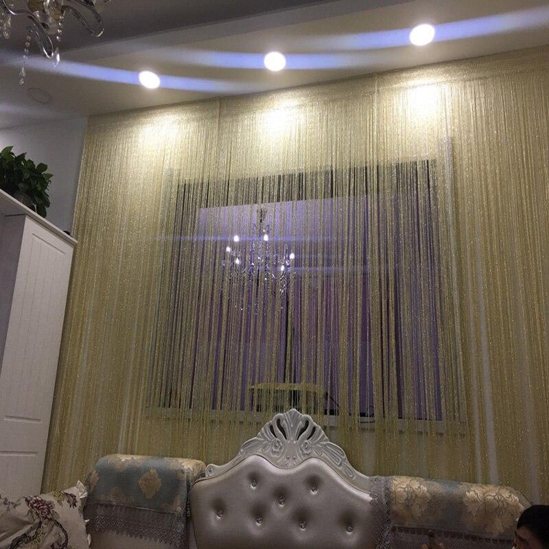 Cortina divisora de puerta de 3x2,6 m, cortina de cadena brillante, cortina divisor de puerta y ventana, cortina de decoración para sala de estar, cenefa