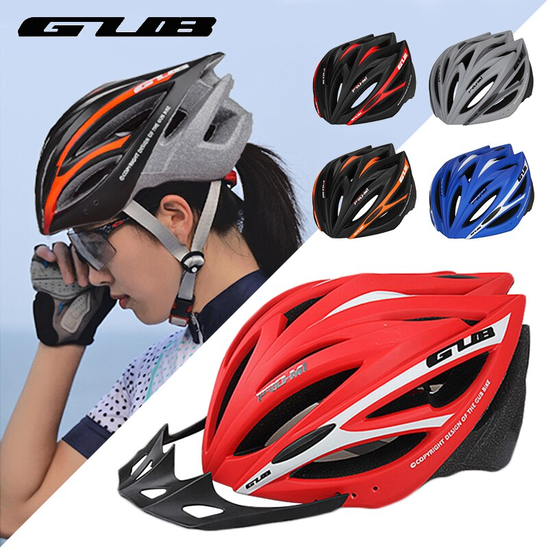 GUB-casco de ciclismo M1 Unisex, moldeado integralmente, ultraligero, transpirable, Casco de bicicleta...