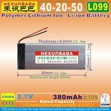 5pcs [L099] 3.7V 380mAh [402050] Polymer lithium ion battery for bluetooth earphone,Cardo Scala Rider Q1 Q3 WW452050PL Rider FM