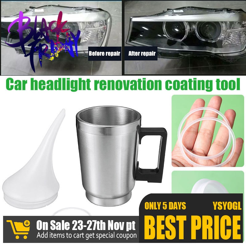 Vehemo Stainless Steel for Tool Car Heating Cup Restoration Repair Headlight Atomization
