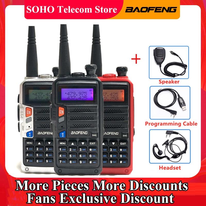 Baofeng UV-5R pro walkie talkie 10w 128ch vhf uhf banda dupla portátil cb ham rádio usb carga recargable transceptor transmissor