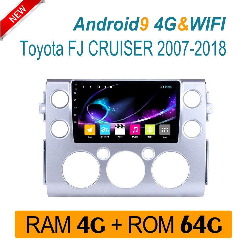 4 gramos radio de audio para toyota FJ Cruiser 2007-2018 sistema multimedia reproductor de DVD vídeo RDS IPS pantalla carplay 1 din Android