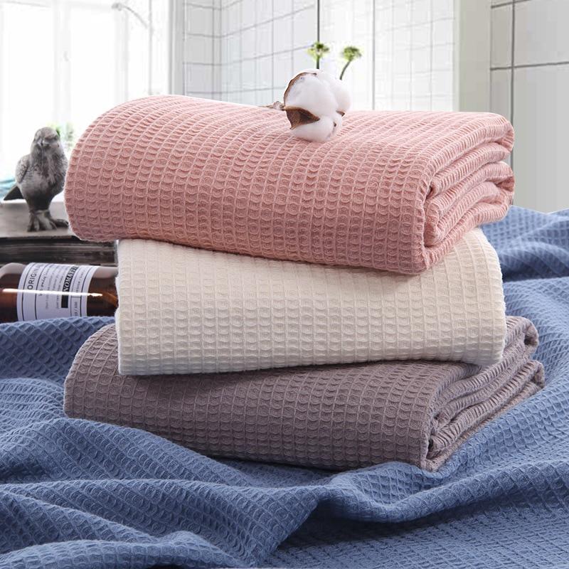 النمط الياباني القطن الهراء بطانية ، منشفة ، مريحة وتنفس الغداء كسر بطانية ، صالة بطانية