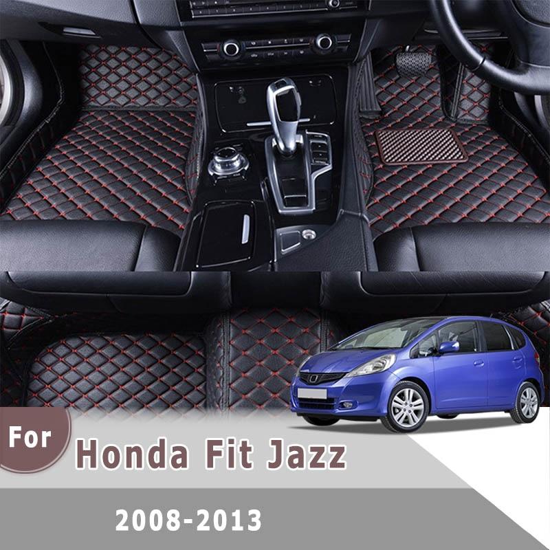 Alfombras RHD para Honda Fit Jazz 2013 2012 2011 2010 2009 2008 alfombras de coche accesorios de Interior de coche alfombras de pie de tablero personalizadas